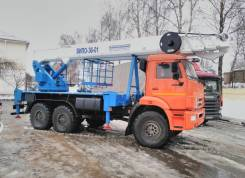 Випо-32. ВИПО-32-01 Автогидроподъемник шасси Камаз-5387 РЕАТ (4x4), 12 000куб. см., 32,00м.