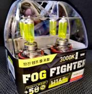 Лампы Avantech H16 3000K. Желтый свет ! Сделано в Корее!. В наличии!