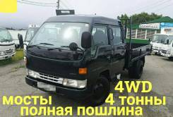 Toyota Dyna. 4WD, двухкабинник+ борт 4 тонны, 4 100куб. см., 4 000кг., 4x4