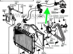 NEW Патрубок радиатора верхний M-EU, M-U для Toyota Mark II 1976-1981