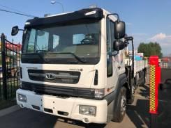 Daewoo Novus. Бортовой-грузовой(воровайка) 450PS, 8*4 с кран HIAB 270T, 11 000куб. см., 17 000кг., 8x4