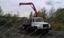 """ГАЗ 3309. Кран-манипулятор ГАЗ-33098 """"ГАЗон"""" с гидравлической КМУ Fassi F85B.0.2, 4 430куб. см., 4 595кг., 4x2"""