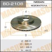 Диск тормозной MASUMA front QASHQAI+2/ JJ10E 09- (упаковка 2 шт) [BD2108]