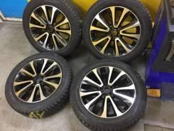 """Почти новые зимние шины Dunlop 225/55R18 на литье Subaru 5x100R18. 7.0x18"""" 5x100.00 ET48 ЦО 56,1мм."""