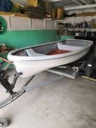 """Продам пластиковую лодку Yamaha 3.7 """"непотопляйка"""""""