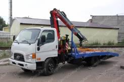 Hyundai HD78. Автоэвакуатор с КМУ Fassi F100AT.12 с ломаной платформой, 3 933куб. см., 4 775кг., 4x2