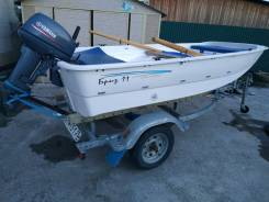 Продам лодку бриз 11 с телегой и двигателем
