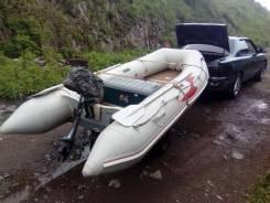 Продам корейскую лодку с мотором и телегой