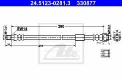 Шланг тормозной задний ATE 24.5123-0281.3 Mersedes