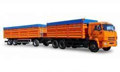 КАМАЗ 846310 автомобиль бортовой зерновоз + прицеп 846322doc(титан), 2020