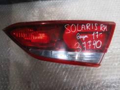 Фонарь задний внутренний правый Hyundai Solaris 2017> (92404H5000)