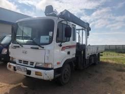 Hyundai Mega Truck. Автомобиль грузовой-бортовой с манипулятором , 5 000кг.