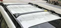 Поперечные рейлинги черные матовые для Toyota Prado 150
