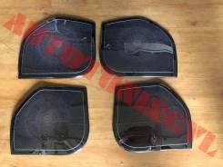 Накладки на динамики дверей Land Cruiser 200(Нержавейка, темный хром )