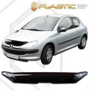 Дефлектор капота Peugeot 206 1998-2009 (Мухобойка)