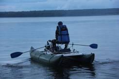 Катамаран для рыбалки Дельта 380 в комплектации с транцем