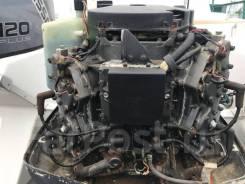 Лодочный мотор Nissan 120 л. с, 2-такта мотоголовка с гидроподъемник