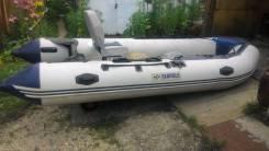 Лодка ПВХ-4.30. длина 4,30м., двигатель подвесной, 40,00л.с.