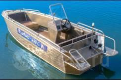 Моторная лодка с рулевым управлением Wyatboat-430C с гидротоннелем.
