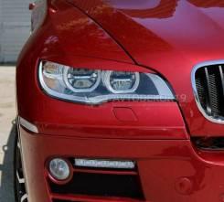 Реснички (накладки) на LED фары BMW X6 E71 (БМВ) 2008-2014г