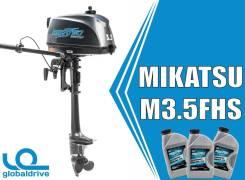 Корейский лодочный мотор Mikatsu M3.5FHS2х. т. Акция! Гарантия 5 лет