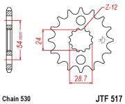 Звезда ведущая (передняя) JTF517.17