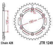Звезда задняя (ведомая) JTR1249.51