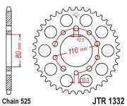 Звезда задняя (ведомая) JTR1332.44