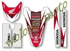 Набор наклеек FactoryEffex (переднее-заднее крыло, маятник,вилка) 13-50320 Honda CRF250R 04-09