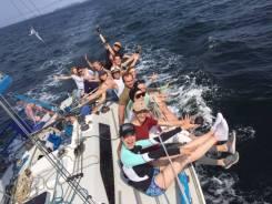 Аренда ЯХТЫ, активный отдых, морские прогулки под парусом. 10 человек, 14км/ч