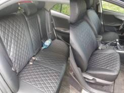 Чехлы из экокожи Ромб для Volkswagen Tiguan (со столиками) 2010-2017