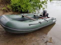 Лодка флагман 380 и мотор Mercury 15