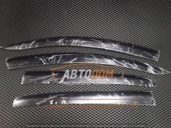 Ветровики (дефлекторы боковых окон) Toyota Vitz 2010г+, крепеж