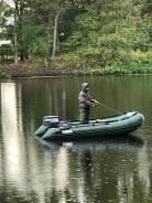 Надувная моторная лодка ПВХ+лодочный мотор+телега