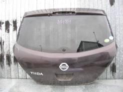 Дверь багажника Nissan Tiida C11 2007-2014 (Дверь багажника со стеклом) [K0100ED0ME]