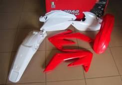 Комплект пластика R-Tech Honda CRF250X 04-17 (R-KITCRX-OEM-412) красный-белый