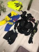 Комплект Мото Кросс Эндуро экипировки штаны черепаха наколенники