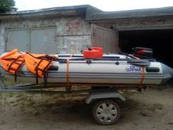 Продам лодку ПВХ SVAT, мотор, телегу