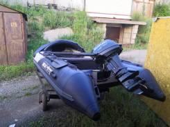 Продам лодку ПВХ штурман мотор 9.9 сузуки раздушин до 15 на телеге
