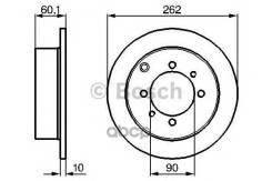 Диск Тормозной Задний! Mitsubishi Galant 2.0-2.5d 91/Lancer 03 Bosch арт. 0 986 478 655 0 986 478 655_