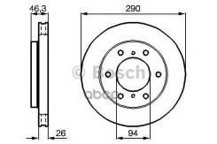 Тормозной диск Bosch арт. 0986478990