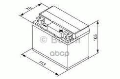 Аккумуляторная Батарея! Евро 5ah 120a 113/70/105 Ytz7s-Bs Moto Bosch арт. 0092M60090 0 092 M60 090_