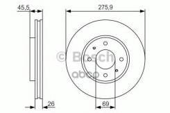 Диск Тормозной Передний! Mitsubishi Lancer 03/Galant 2.0-2.5 96-04 Bosch арт. 0 986 479 R94 0 986 479 R94_