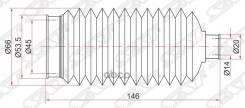 Пыльник рулевой рейки toyota corolla/sprinter 92-02 lh=rh Sat арт. ST4553512060, левый/правый