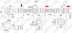 Шланг Тормозной Передний (Таиланд) Nissan Bluebird/Primerai/Nfiniti G20 94-01 Rh Sat арт. ST-46210-2J005, правый