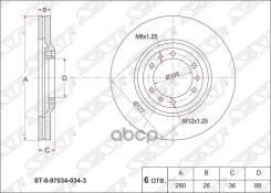 Диск Тормозной Перед Isuzu D-Max 07-/Trooper 91-/Great Wall Hover H5/Opel Frontera 95-04 Sat арт. ST-8-97034-034-3