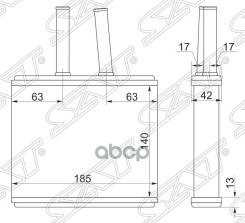 Радиатор Отопителя Салона Mazda Demio Dw# 96-02 Sat арт. ST-MZ50-395-0