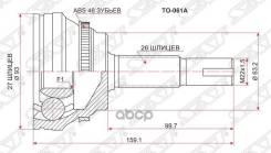 Шрус Наружный Toyota Camry Acv4# 01-09/Harrier Acu3#/Mcu35/Ipsum Acm2#/Kluger Acu25/Rav-4 Aca20 Sat арт. TO-061A