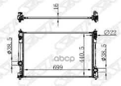Радиатор Toyota Camry Asv7#/Axva70 18- A25afks/2ar/6arfse Sat арт. TY0003-ASV70