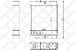 Радиатор Печки! Mitsubishi Colt/Lancer/Space Wagon, Nissan Serena 92 Stellox арт. 10-35136-SX 10-35136-Sx_